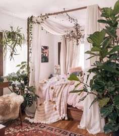 orientalisches Dekor im Boho-Stil - DIY Best Home Deco Dream Rooms, Dream Bedroom, Home Bedroom, Garden Bedroom, Fairy Bedroom, Nature Bedroom, Bedroom Furniture, Fairytale Bedroom, Fantasy Bedroom