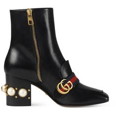 Gucci Women's Peyton Leather Ankle Boots