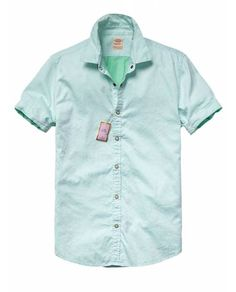 Classic two toned short-sleeved surf shirt - Shirts - Official Scotch & Soda Online Fashion & Apparel Shops