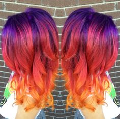 Sunset hair' is the latest beauty trend to take... - Simone Olivero