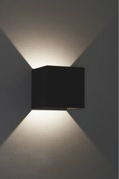 Bruck Lighting Anthracite QB Single Light Tall LED Outdoor Wall Sconce with Clear Glass Shade Led Outdoor Wall Lights, Outdoor Wall Sconce, Concrete Lamp, Extruded Aluminum, Color Rendering Index, Glass Shades, Wall Sconces, Clear Glass, Lighting