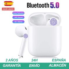 Earphones bluetooth 5 0 White similar to air pods for Smartphone iPhone Xiaomi Huawei Samsung #Earphones #bluetooth Bluetooth Earbuds Wireless, Headphones, Samsung Earphones, Internet Bar, Ps4, Air Pods, Noise Reduction, Iphone, Control