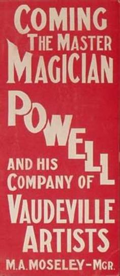 Powell Magician Poster red