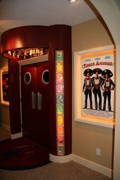 Home theater - padded doors