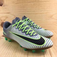 3712c0384f6 Nike Mercurial Vapor XI AG PRO Size 8 Mens Soccer Cleats Platinum Ghost  Green