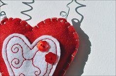 Felt heart photo/card  holder  Valentine's day by SweetGiulia