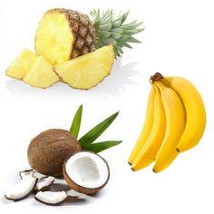 Ricetta per la preparazione di un Centrifugato Energetico e Integratore al Cocco con Banana e Ananas. Scopri anche gli altri Centrifugati Energetici.