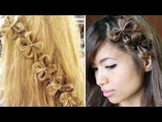 How to: Flower Hair Bow Tutorial  wow if I could do this with my hair I would. mabe once it grows out some more.