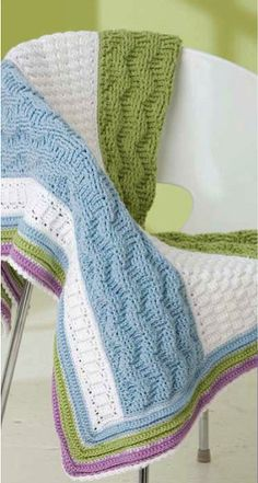 Free crochet pattern: Color Waves Afghan – The Crochet Dude