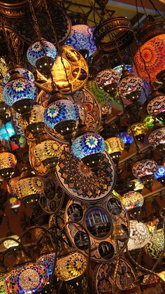 Turkish lamps at the Grand Bazaar in Istanbul. Shopping there was a once in a lifetime experience, let me tell you! My friend & I literally got lost in the market and had to use his GPS to find our way out, ha ha.
