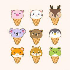 The character of cute cat garps the heart on white Cute Food Drawings, Cute Animal Drawings Kawaii, Kawaii Stickers, Cute Stickers, Doodles Bonitos, Kawaii Illustration, Cute Cartoon Wallpapers, Cute Art, Cute Animals