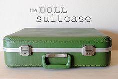Oh craft joy! Super cute traveling dollhouse kit, packed into a vintage suitcase. Great idea. Dottie's Kraft Korner :: Hart & Sew's Doll Suitcase. – Modern Kiddo