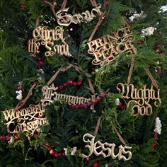 Adorenaments® - His Christmas Names Set ~pocket letter theme the names of Jesus (chirstmas is this set)a beautiful small book with stories to read together about the importance of each name.   Jesus  Savior  Prince of Peace  Mighty God  Christ the Lord  Emmanuel  Wonderful Counselor ~sb