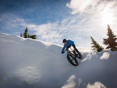 Not sure why I'm obsessed with snow biking? :) well, it looks fun and I like the idea of fat tires. Um, please snow...