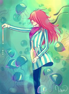 I know it's Ponyo but at first glance I thought it was Grell Stucliff