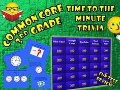 Telling Time to the Minute Trivia Game--Test Prep for Spring