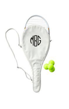 Monogrammed Tennis Racket Holder