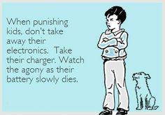 When punishing kids...