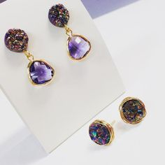 How To: Wire Wrapped Druzy Post Earring