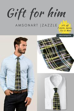 Yellow Grid Art Pattern Tie gift for him designed by AMSonArt | Zazzle 30%off this Father's Day Upgrade your wardrobe with a custom tie from Zazzle! Design one-of-a-kind ties to match any suit, dress shirt, and occasion. Upload your own unique images and patterns, or browse thousands of stylish designs to wear in the office or on a night out in the town. Dimensions: Length: 139 cm Width: 10.1 cm (at widest point) #dadgifts #uniquefathersdaygifts Thoughtful Gifts For Him, Gifts For Dad, Fathers Day Gifts, Custom Ties, Unique Image, Pattern Art, Things To Buy, Dress Shirt, Line Art