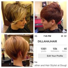 I like the and the cut. Pixie Hairstyles, Pixie Haircut, Cute Hairstyles, Short Hair Cuts, Short Hair Styles, Hair Studio, About Hair, Great Hair, Hair And Nails