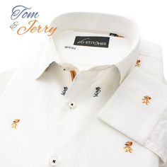 """⭐️🧀Go on a nostalgic ride with this classic duo, your favourites from childhood- """"TOM & JERRY""""🧀⭐️ . Limited Edition Shirts, Shop now - 16Stitches.com/Shirts. . . . . . . . #tomandjerry #childhood #cartoon #menswear #mensstyle #mensfashion #summer #style #fashion #trend #trendy #shirts #luxury #formal #fb #formals #formalwear #classy #classic #classymen #dapper #dappermen #instalike #instagood"""