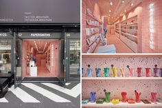 UK based interiors and branding studio, B, have recently completed a new Papersmiths retail store in Boxpark, Shoreditch.