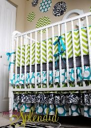 I will have this nursery one day. Ruffled crib skirt tutorial