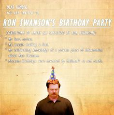 Parks and Rec Ron Swanson Birthday Card by SapphireNineDesign My