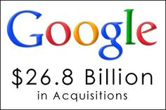 Ever wonder how much Google has spent on buying businesses. We did. $26.8 billion sound like a nice round number?