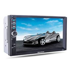 "Excelvan 7021G 7"" HD Bluetooth Touch Screen Car Stereo MP5 Player with GPS Navigation FM/AUX-IN/USB/SD Radio Aux Support Rear View Camera. For product info go to:  https://www.caraccessoriesonlinemarket.com/excelvan-7021g-7-hd-bluetooth-touch-screen-car-stereo-mp5-player-with-gps-navigation-fmaux-inusbsd-radio-aux-support-rear-view-camera/"