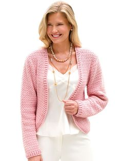Crochet - Crunch Stitch Jacket - #EC00711. //  ♡ LOVE!!! MUST BUY THIS PATTERN!  ♥A