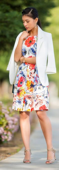 Floral Dress Outfit Idea by Stylishly Me