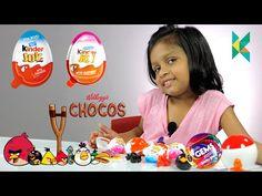 Kinder Surprise Eggs, Kinderjoy Boys and Girls Gems Surprise Angry Birds Toy…