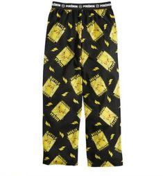 Pants are black and yellow, are pull on with elastic waist and have PIKACHU all over them. Pajama Bottoms, Pajama Top, Pajama Pants, Red Pajamas, Boys Pajamas, Sleep Pants, Lounge Pants, Pikachu Pajamas, One Piece Pajamas