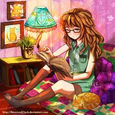 That reading spot, that reading time by ReversedClock on @DeviantArt