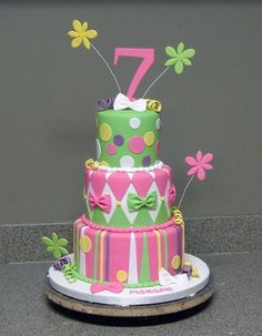 bright birthday by sugarshack on Cake Central
