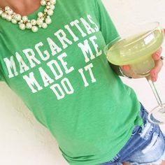 Margaritas Made Me Do It Graphic tee You won't want to take off this unisex tee, featuring a uniquely soft tri-blend fabrication, modern fit, crew neck and short sleeves. The tee is a unisex fit -