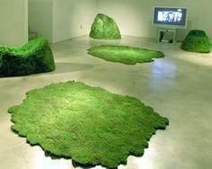 Diseño de Interiores Green   Alfombra de musgo • Moss carpet from Bosco project by Alessandra Baldereschi