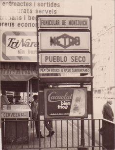 Estación Pueblo Seco L3 (lo que hoy es Paral·lel). Barcelona años 1970