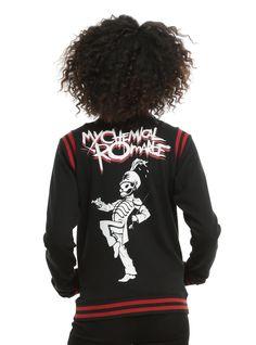 Carry on // My Chemical Romance Black Varsity Girls Jacket