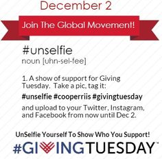 Blog Post about the CooperRiis Giving Tuesday campaign! Giving Quotes, Giving Tuesday, Selfie, Foundation, Campaign, Friday, Bag, Ideas, Food