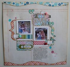 #papercraft #scrapbook #layout by Slightly Squiffy