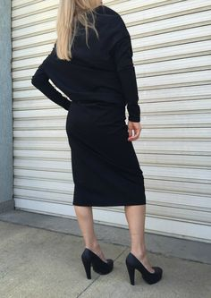 Asymmetric Loose Dress / Long Sleeves Dress / от MDSewingAtelier
