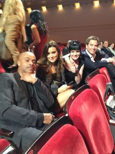 Cote de Pablo at a movie with some of her cast members from NCIS