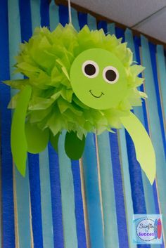 An Ocean Classroom in a Few Simple Steps. Ocean classrooms are one of the most peaceful themes. Here's how to create an ocean classroom in a few simple steps! Check out my favorite teacher resources to make your ocean classroom perfect for your kids. Decoration Creche, Class Decoration, Turtle Classroom, Ocean Themed Classroom, Ocean Crafts, Sea Turtle Crafts, Ocean Animal Crafts, Under The Sea Theme, Ocean Themes