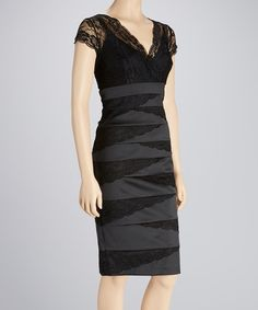 Looove!!  Take a look at this Black Lace Dress - Women on zulily today!