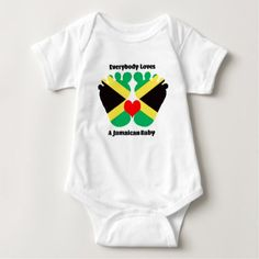 #party - #Everybody Loves A Jamaican Baby Jersey Bodysuit