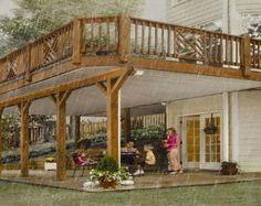 wood deck with underneath walkout | Decks