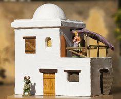 Diy Nativity, Christmas Nativity Scene, Christmas Villages, Nativity Scenes, Diy Arts And Crafts, Home Crafts, Medieval Houses, Southwestern Art, Ceramic Houses